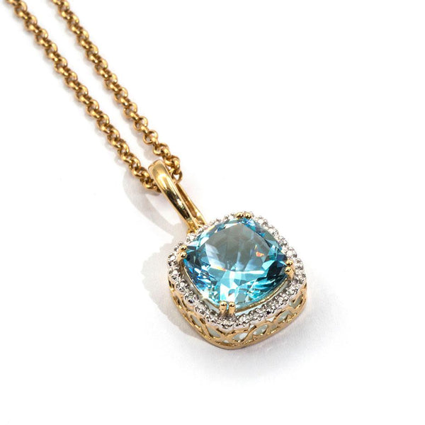 Kata Topaz & Diamond Pendant Pendants/Necklaces Imperial Jewellery - Auctions, Antique, Vintage & Estate