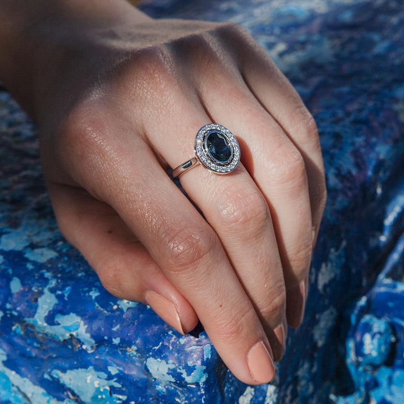 Kayla Sapphire & Diamond Ring Ring Imperial Jewellery - Auctions, Antique, Vintage & Estate