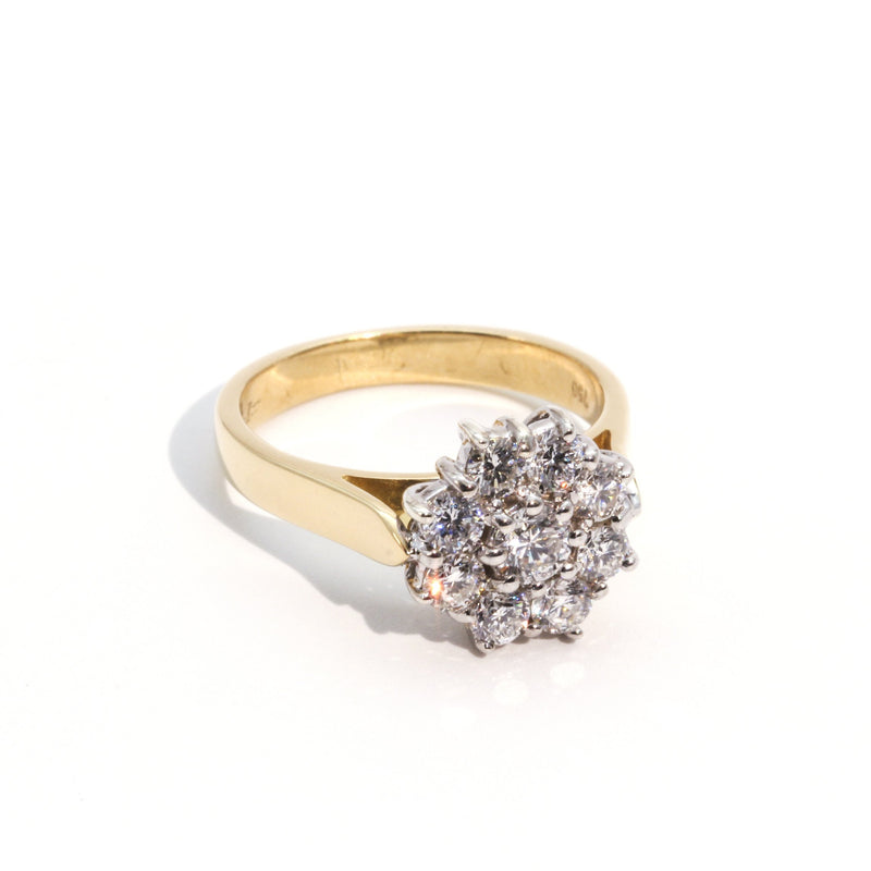 Kimberly 1 Carat Cluster Ring Ring Imperial Jewellery - Auctions, Antique, Vintage & Estate