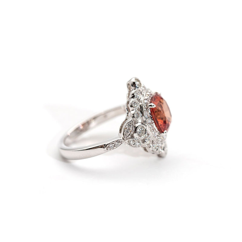Leia Sunset Spinel and Diamond Ring Ring Imperial Jewellery - Auctions, Antique, Vintage & Estate