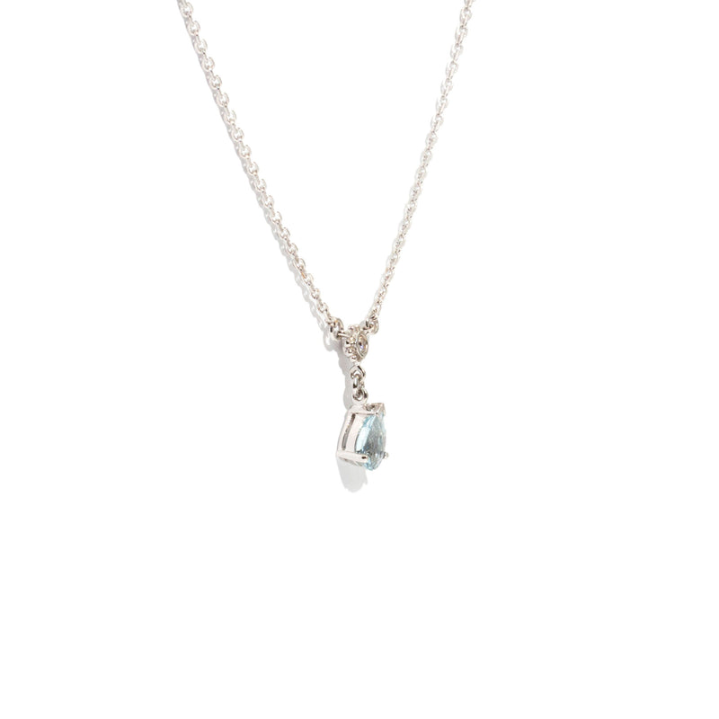 Luna Aquamarine & Diamond Necklet Pendants/Necklaces Imperial Jewellery - Auctions, Antique, Vintage & Estate