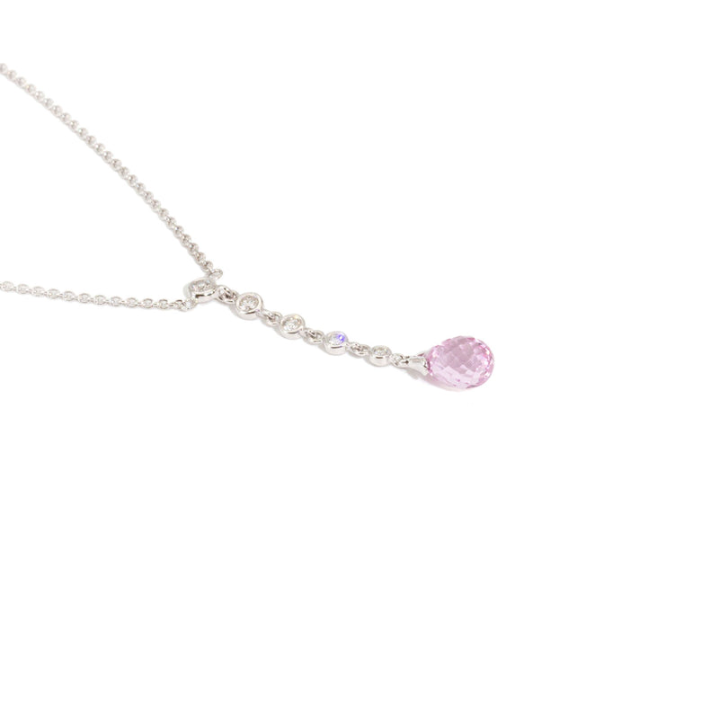 Macha Pink Sapphire & Diamond Necklet Pendants/Necklaces Imperial Jewellery - Auctions, Antique, Vintage & Estate