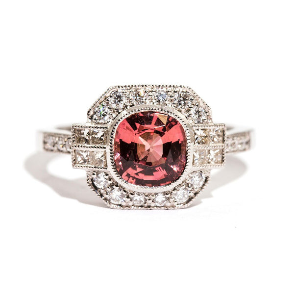 Magnolia Spinel & Diamond Ring Ring Imperial Jewellery - Auctions, Antique, Vintage & Estate