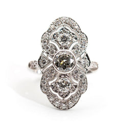 Marisa 1.62 Carat Diamond Art Deco Ring Ring Imperial Jewellery - Auctions, Antique, Vintage & Estate