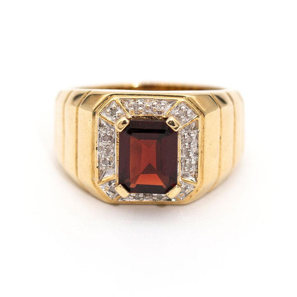 Michael Garnet & Diamond RIng Rings Imperial Jewellery - Auctions, Antique, Vintage & Estate