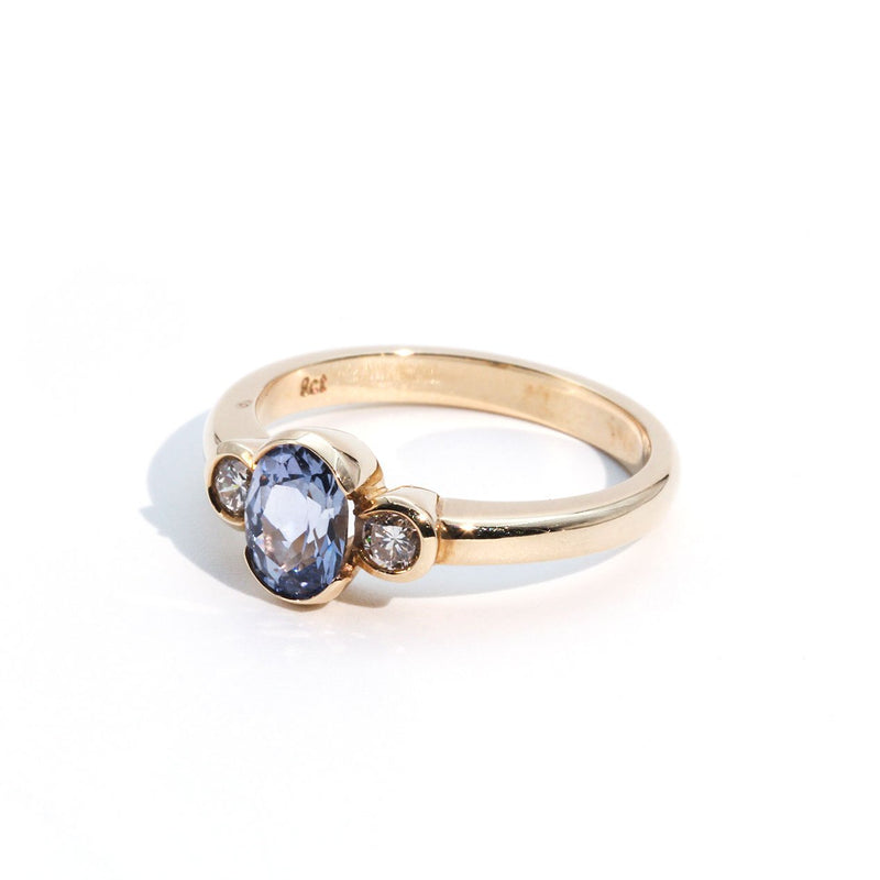 Molly Ceylon Sapphire & Diamond Ring Ring Imperial Jewellery - Auctions, Antique, Vintage & Estate