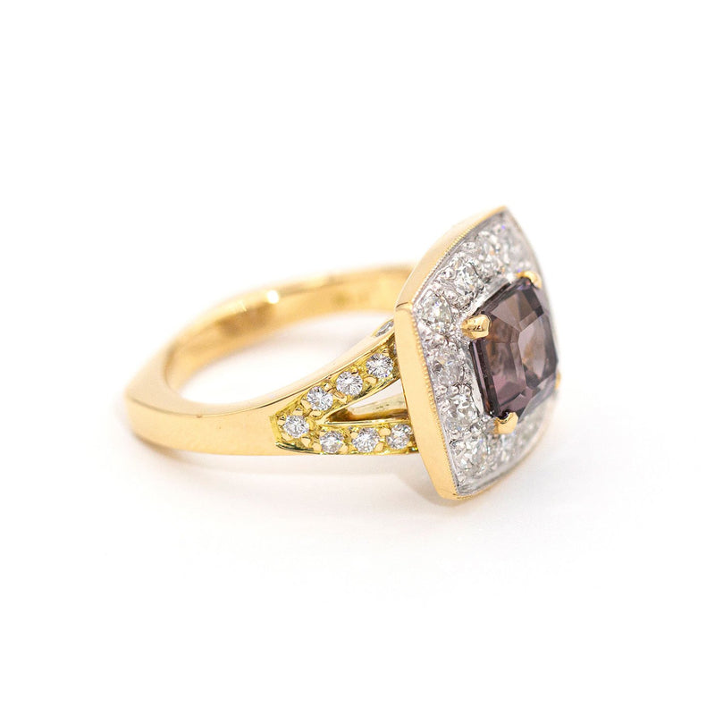 Nicole Spinel & Diamond RIng Rings Imperial Jewellery - Auctions, Antique, Vintage & Estate