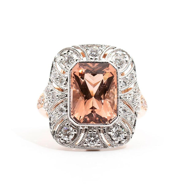Paige Morganite & Diamond Ring Ring Imperial Jewellery - Auctions, Antique, Vintage & Estate