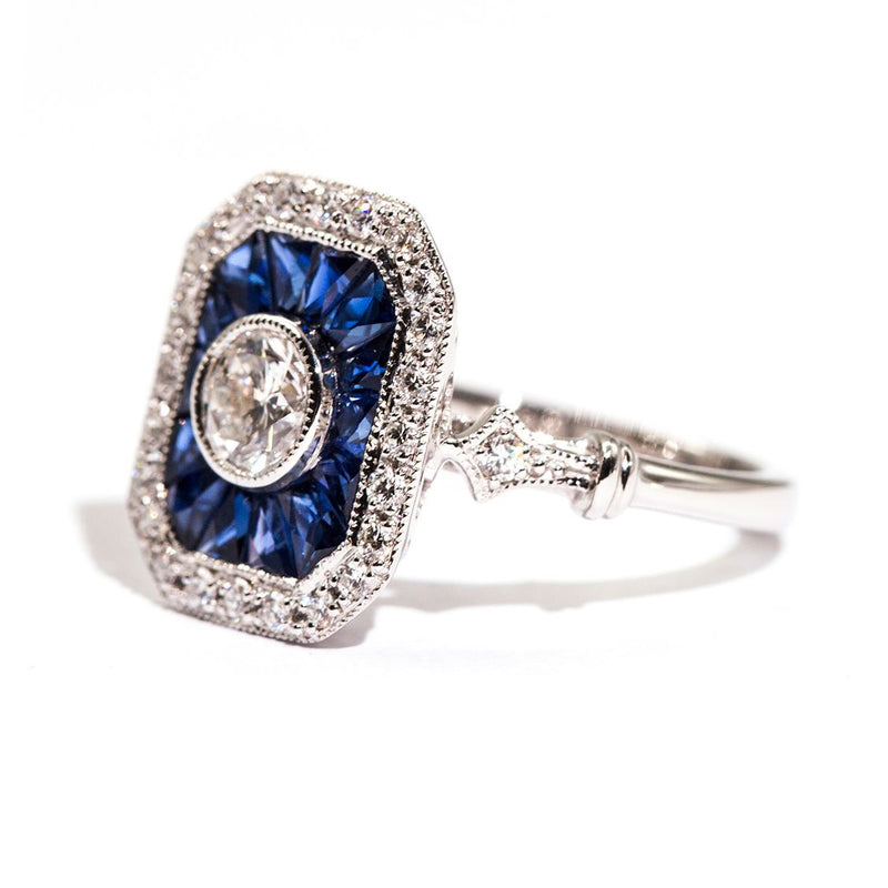 Peregian Sapphire & Diamond Ring Ring Imperial Jewellery - Auctions, Antique, Vintage & Estate