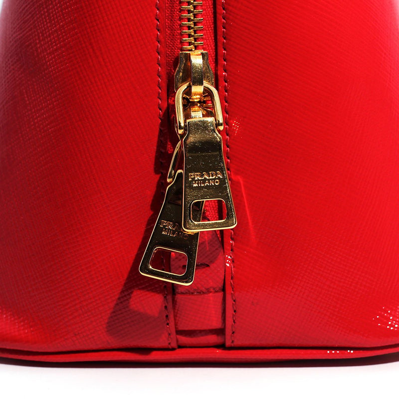 PRADA Saffiano Vernice Leather Bag Imperial Jewellery - Auctions, Antique, Vintage & Estate