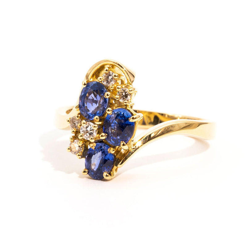 Presley Sapphire & Diamond Ring Ring Imperial Jewellery - Auctions, Antique, Vintage & Estate