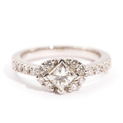 princess-vintage-diamond-engagement-ring-larnie-ij-0121-417 Rings Imperial Jewellery - Auctions, Antique, Vintage & Estate