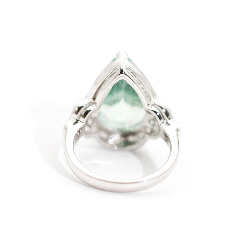 Santorini 7.47 Carat Aquamarine and Diamond Ring Ring Imperial Jewellery - Auctions, Antique, Vintage & Estate