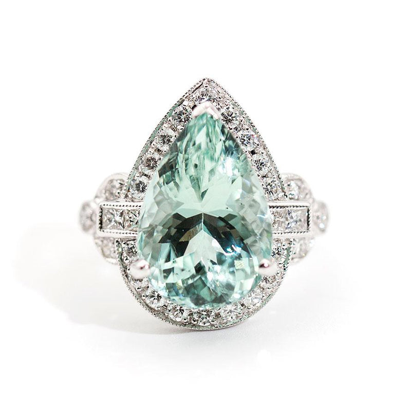 Santorini Aquamarine and Diamond Ring Ring Imperial Jewellery - Auctions, Antique, Vintage & Estate