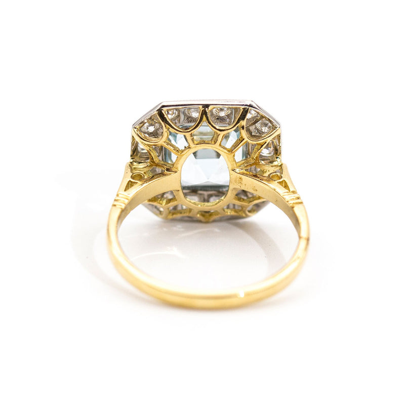 Sawyer Aquamarine & Diamond Ring Rings Imperial Jewellery - Auctions, Antique, Vintage & Estate