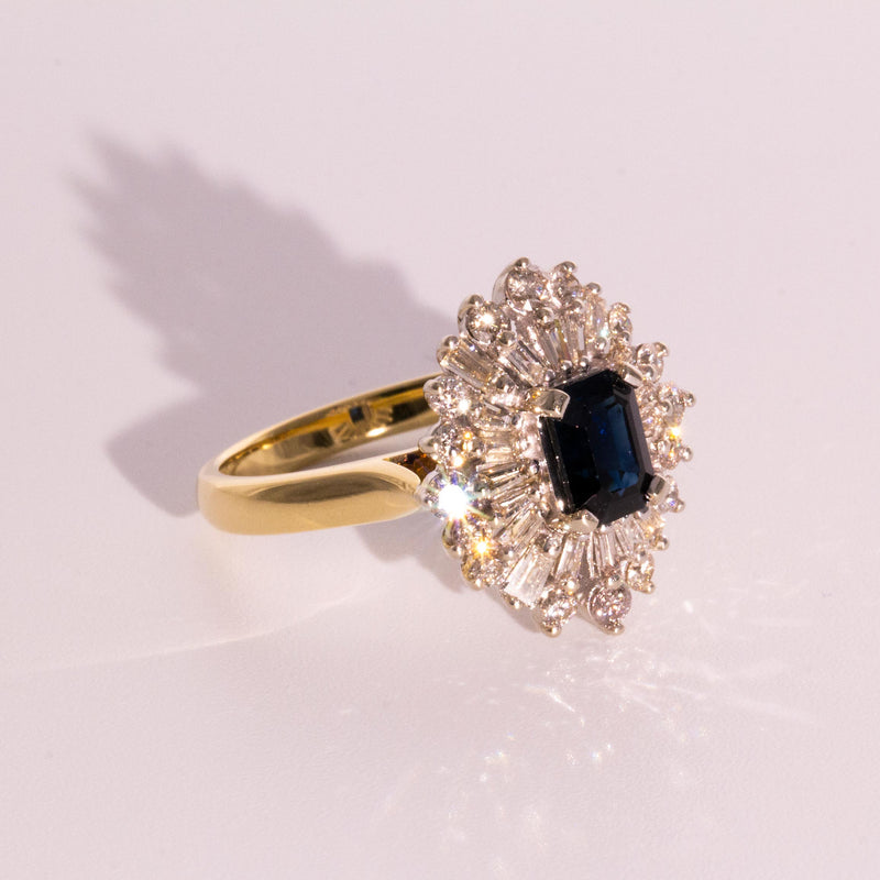 Seraphina Sapphire & Diamond Ring Rings Imperial Jewellery - Auctions, Antique, Vintage & Estate