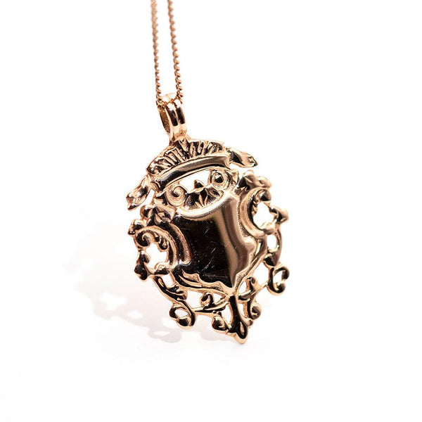 Shelly Shield Pendant & Chain Pendant/Necklaces Imperial Jewellery - Auctions, Antique, Vintage & Estate