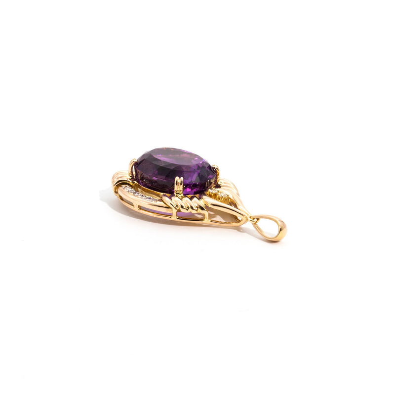 Sloane Amethyst and Diamond Pendant Pendants/Necklaces Imperial Jewellery - Auctions, Antique, Vintage & Estate