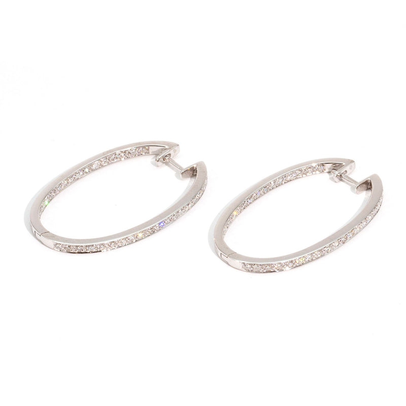 Summer 1ct Diamond Hoops Earrings Imperial Jewellery - Auctions, Antique, Vintage & Estate
