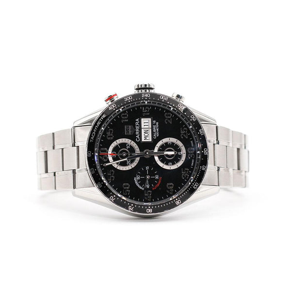 TAG Heuer Carrera Chronograph Calibre 16 Black Dial Imperial Jewellery - Auctions, Antique, Vintage & Estate