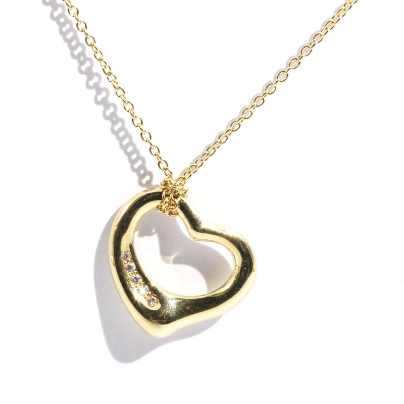 Tiffany & Co. Elsa Peretti Open Heart Pendant Pendants/Necklaces Imperial Jewellery - Auctions, Antique, Vintage & Estate