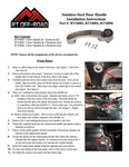 Jeep Wrangler JK Door & Tailgate Handle Kit (Stainless)