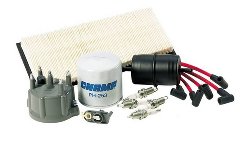Tune Up Kit for Wrangler YJ 1991-1993 w/2.5L Engine w/Standard Oil Filter Threads (Crown TK13)