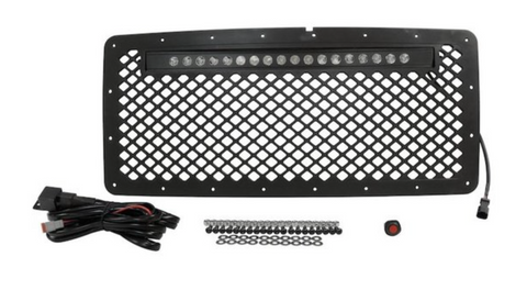 Jeep Wrangler JK Grille & LED Light Bar Kit (Stainless)