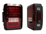 Jeep Wrangler JK LED Tail Light Set (Red Lens)