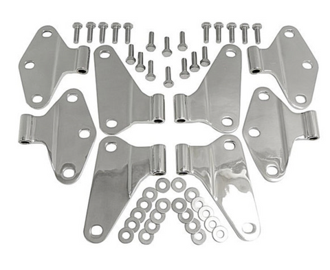 Jeep Wrangler JK 4-Door Body Door Hinge Set (Stainless)