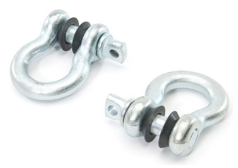 "Heavy-Duty 3/4"" Shackles Set with Anti-Rattle Rubber Spacers"