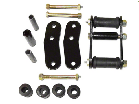 Heavy Duty Greasable (2 Springs) Shackle Kit for Wrangler YJ