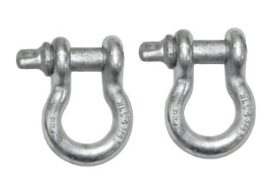 "Set of 2 Heavy-Duty 3/4"" Shackles for Jeep Recovery Kit"