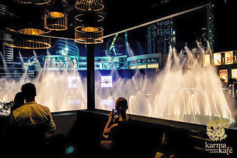 dubai fountain - karma kafe