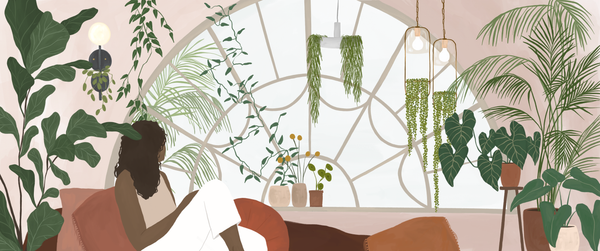 Banner artwork 2: Lounging with plants