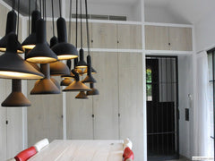 Torch Pendant Light dining room setting