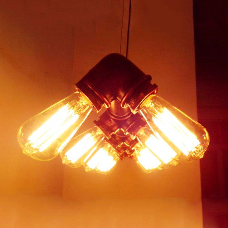 Industrial 10 Bulb Water Pipe Pendant Light Tudo And Co