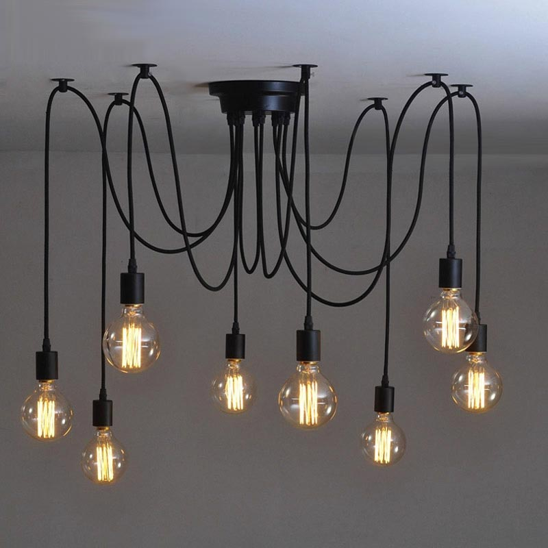 10 light adjustable cable chandelier black: Tudo and Co – Tudo And Co