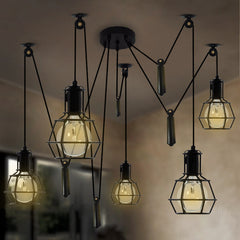 Work Lamp Cage Chandelier