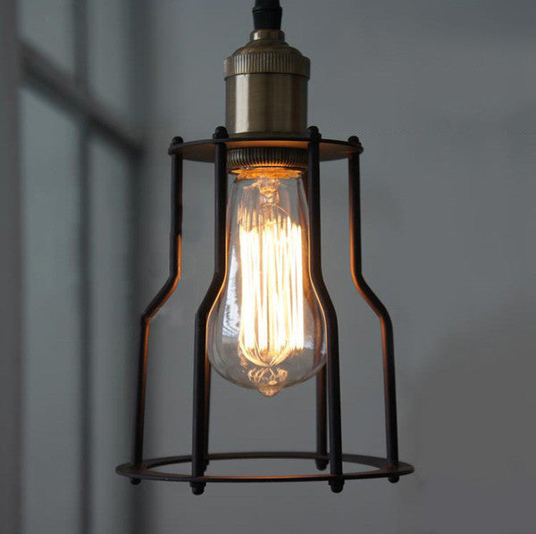 Industrial Wire Cage Retro Style Pendant Light