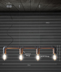 Water Pipe Ceiling Light measurements
