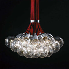 Idle Max Replica: 19 bulb Red Braided Wire Chandelier