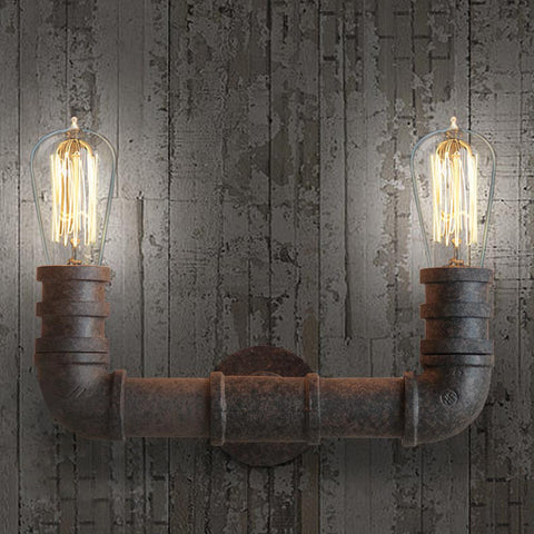 2 Head Duo Water Pipe Wall Light