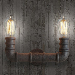 Duo Water Pipe Wall Light Sconce