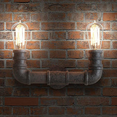 2 head Water Pipe Wall Light Sconce