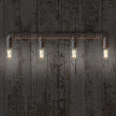 4 head water pipe wall sconce