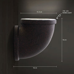 Corner Rustic Water Pipe Wall Light - rustic measurements
