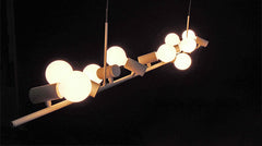 Hanging Doves Suspension Chandelier / Ceiling Light by Designer Zhi Li Liu