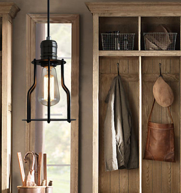 6 Head Industrial Iron Cage Chandelier Tudo Amp Co Tudo And Co