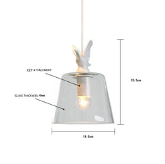 Classic Designed Swan Lake Glass Shade Pendant Light
